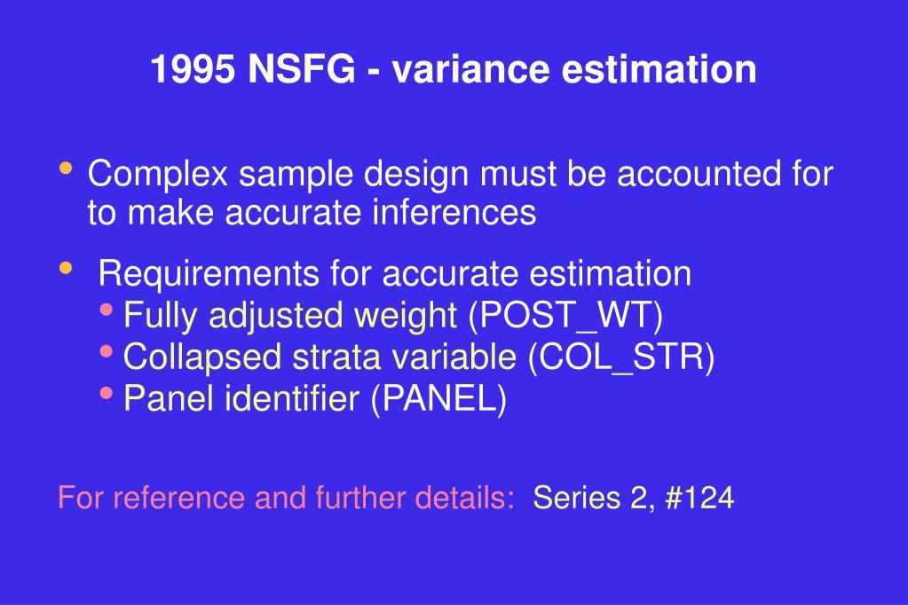 1995 NSFG - variance estimation