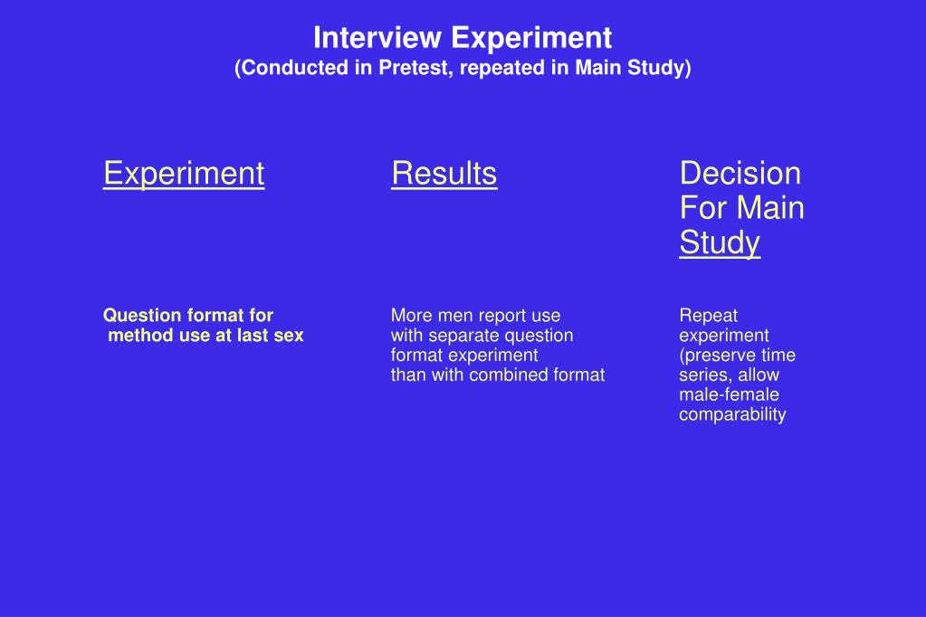 Interview Experiment