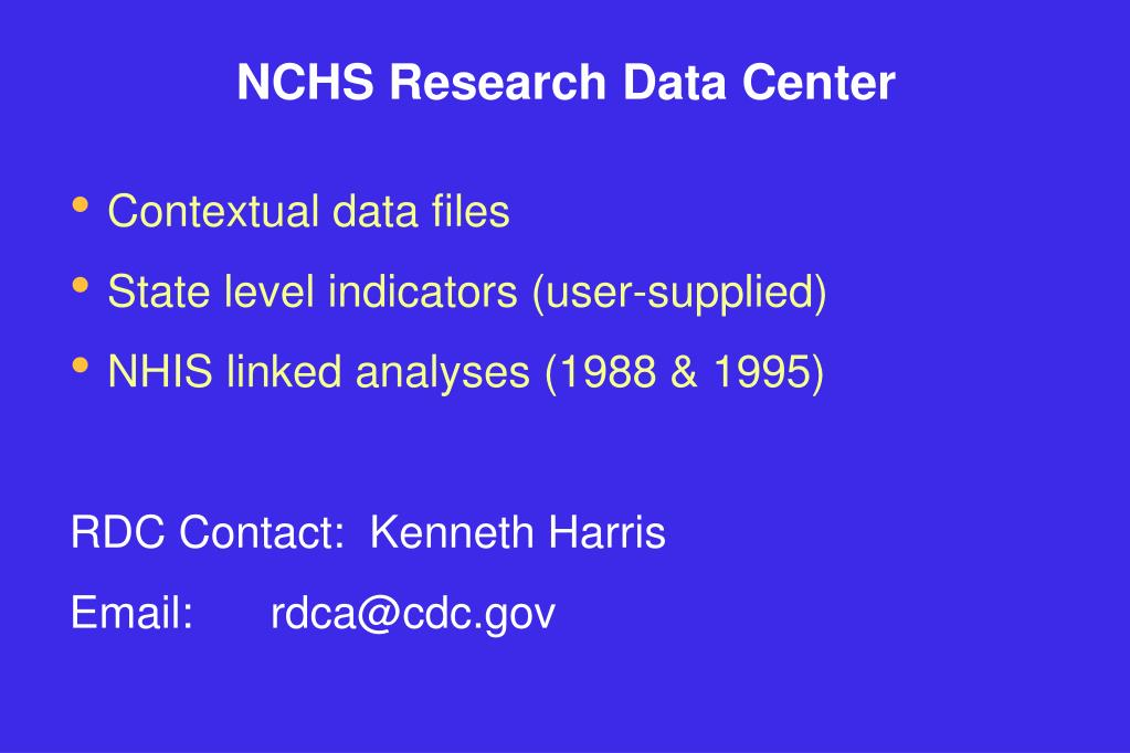 NCHS Research Data Center