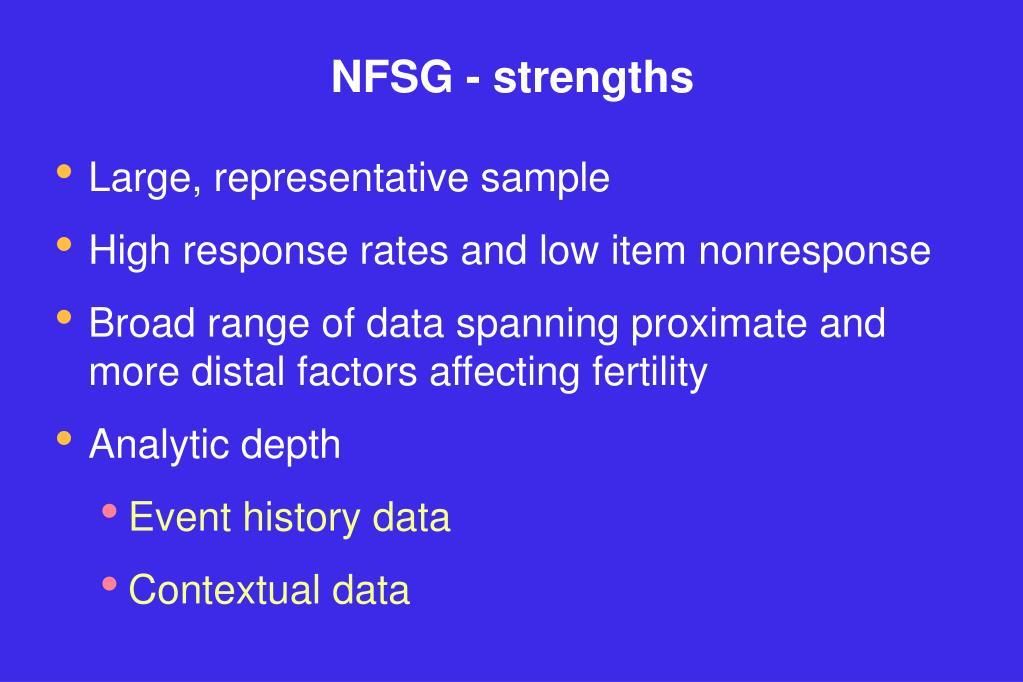 NFSG - strengths