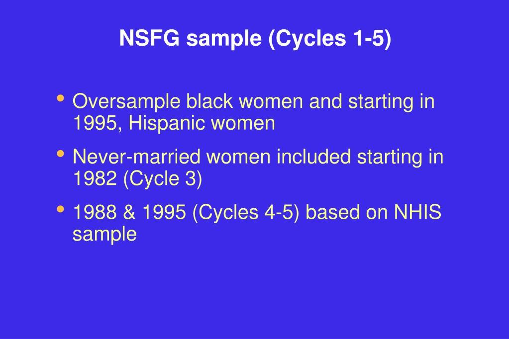 NSFG sample (Cycles 1-5)