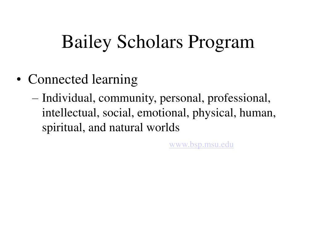 Bailey Scholars Program