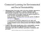 connected learning for environmental and social sustainability