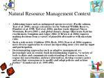 natural resource management context