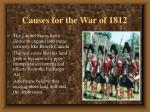 causes for the war of 18125