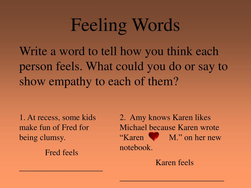 Feeling Words