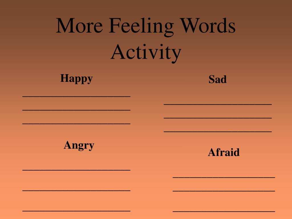 More Feeling Words