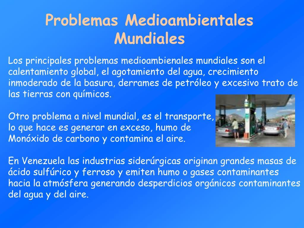 Problemas Medioambientales Mundiales