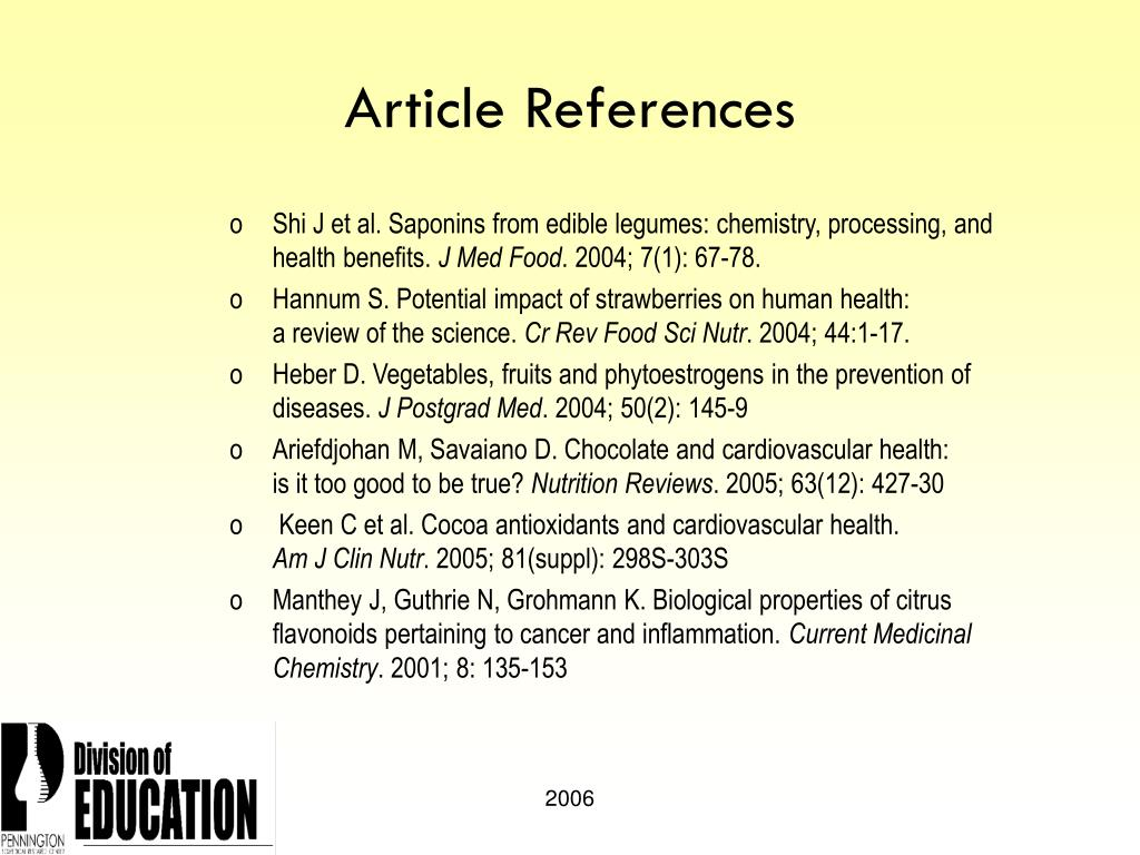 Article References