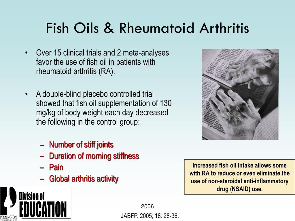 Fish Oils & Rheumatoid Arthritis