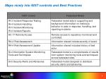 maps nicely into nist controls and best practices