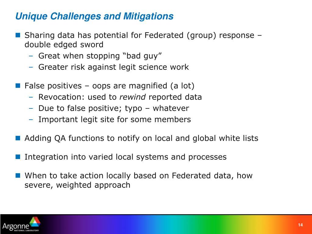 Unique Challenges and Mitigations