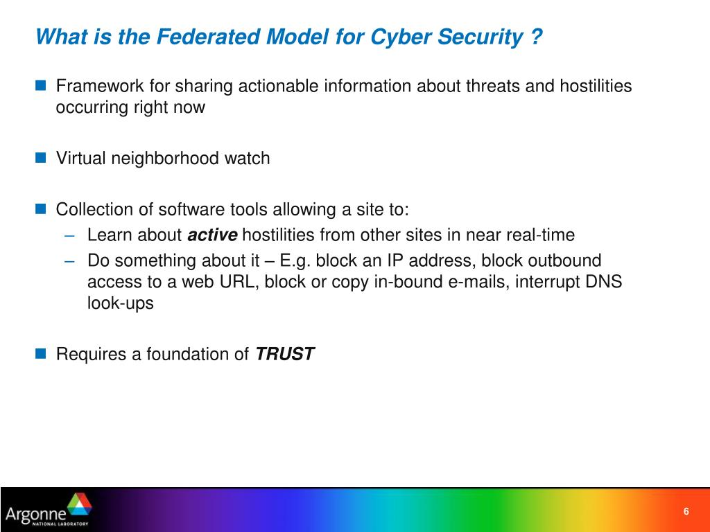 What is the Federated Model for Cyber Security ?