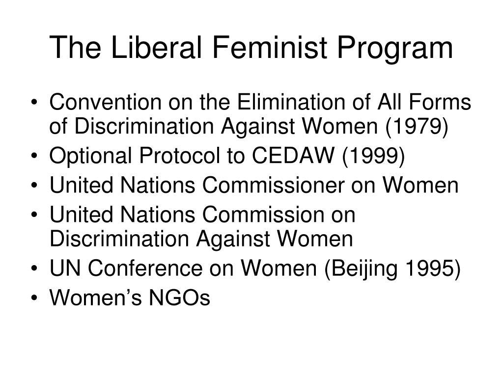 The Liberal Feminist Program