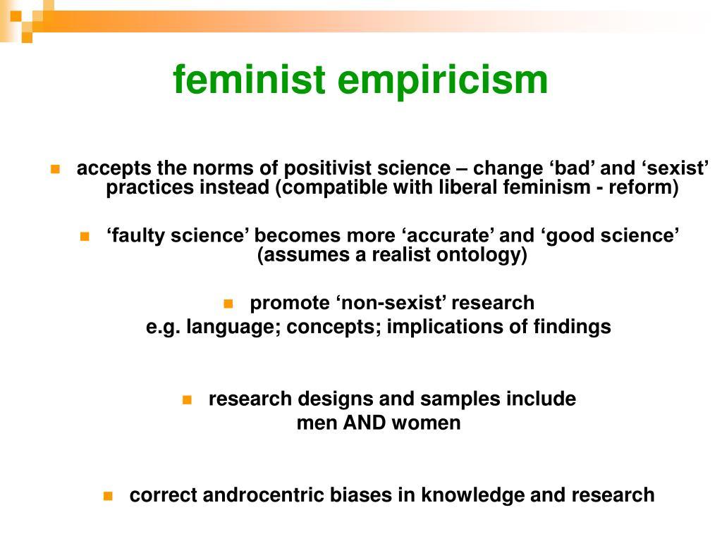 feminist empiricism