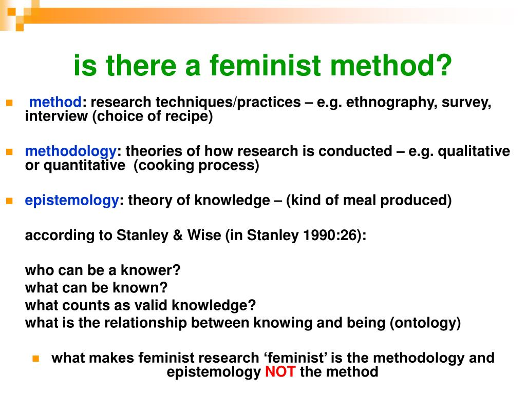 is there a feminist method?