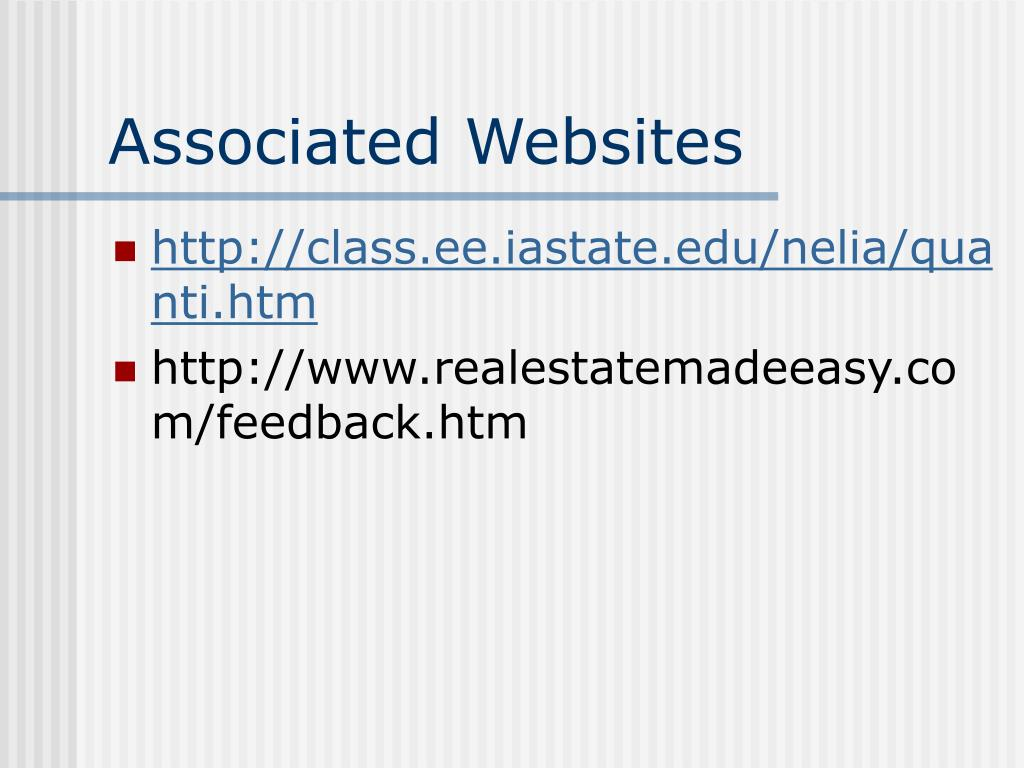 Associated Websites