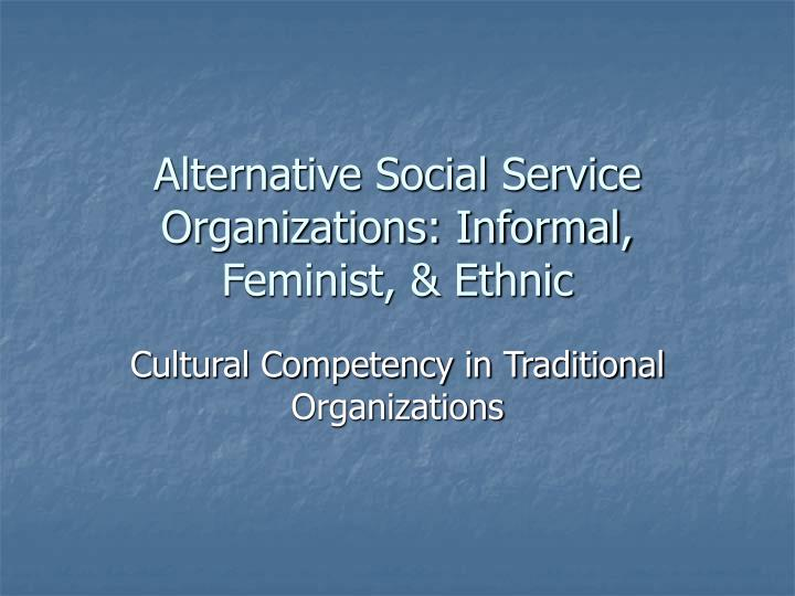 Alternative social service organizations informal feminist ethnic