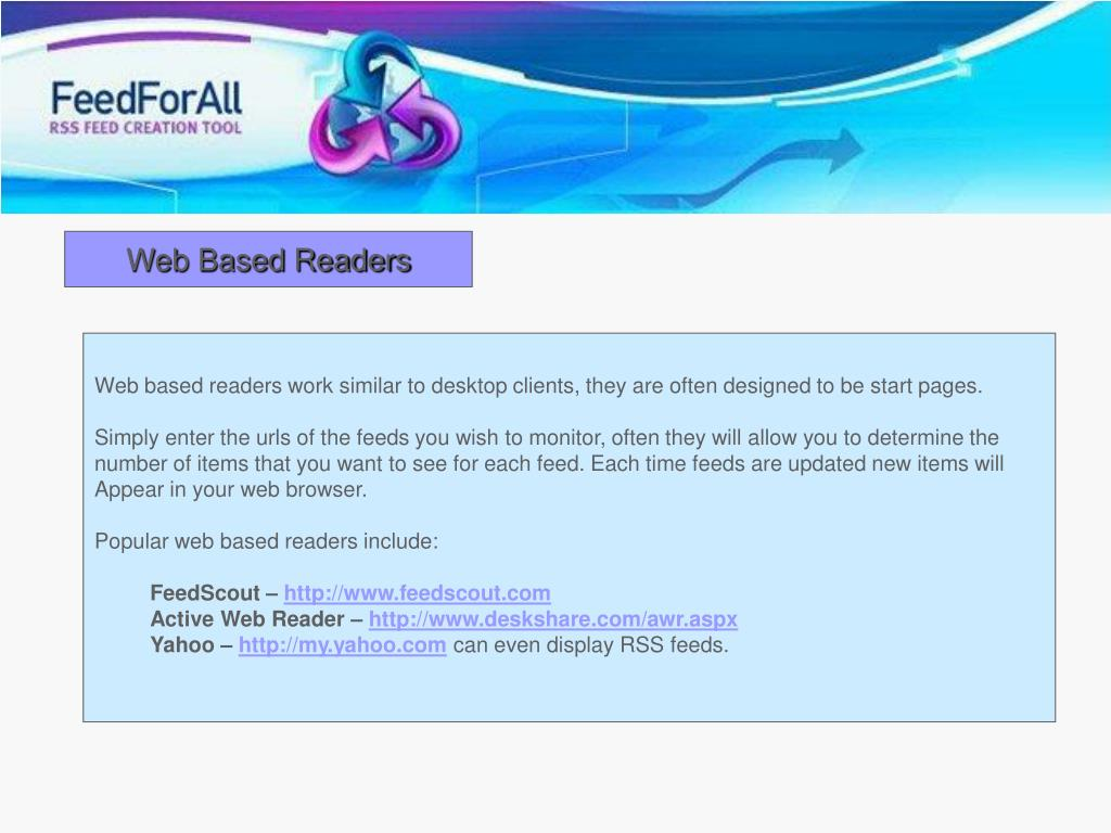 Web Based Readers