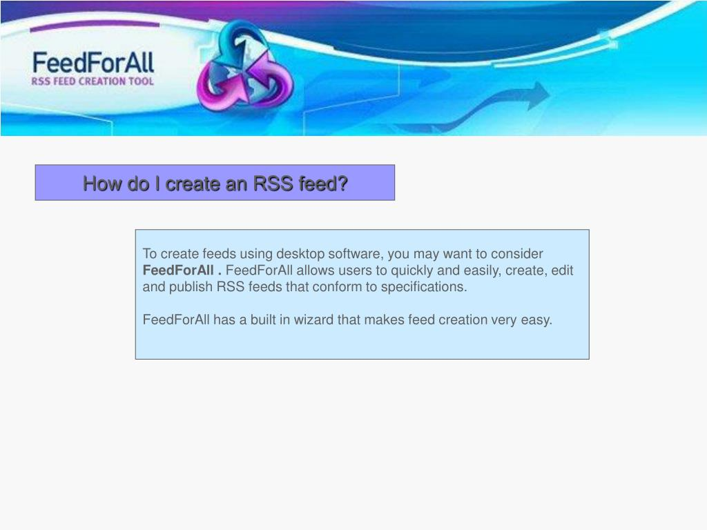 How do I create an RSS feed?