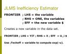 jlms inefficiency estimator