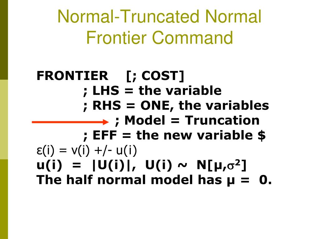 Normal-Truncated Normal