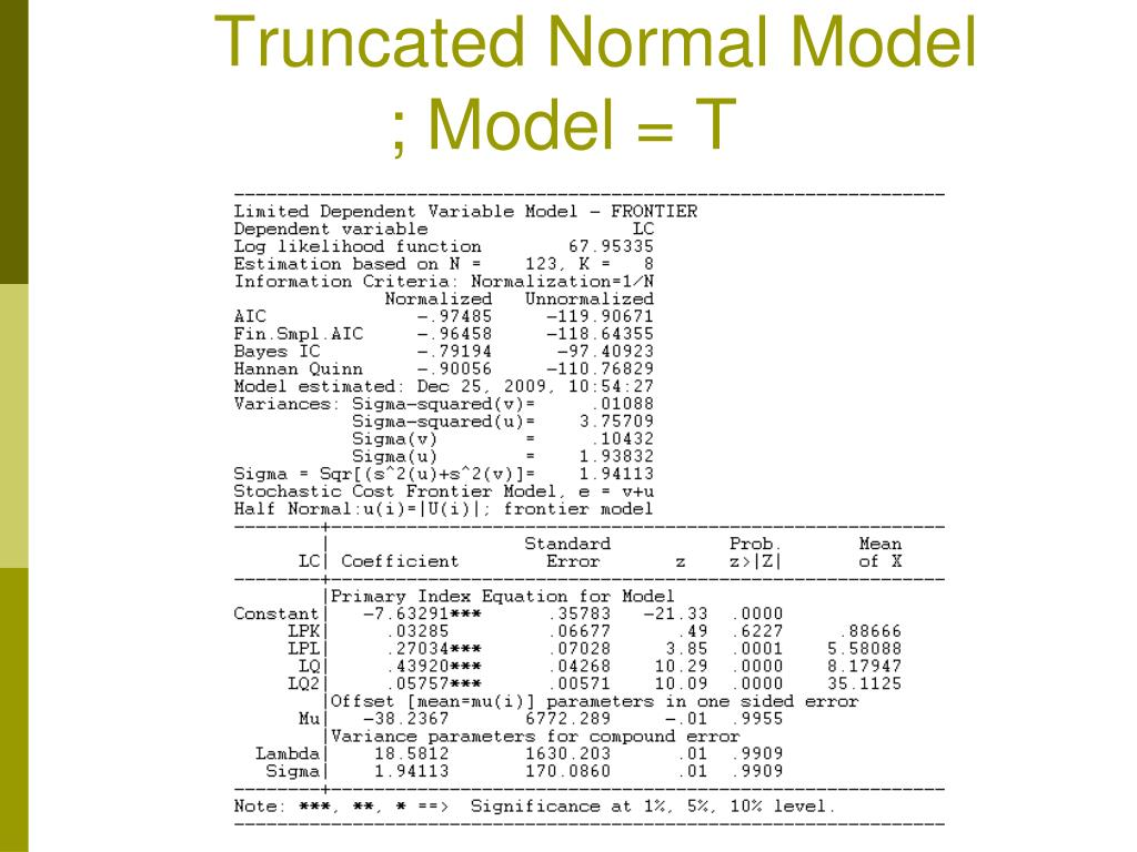 Truncated Normal Model