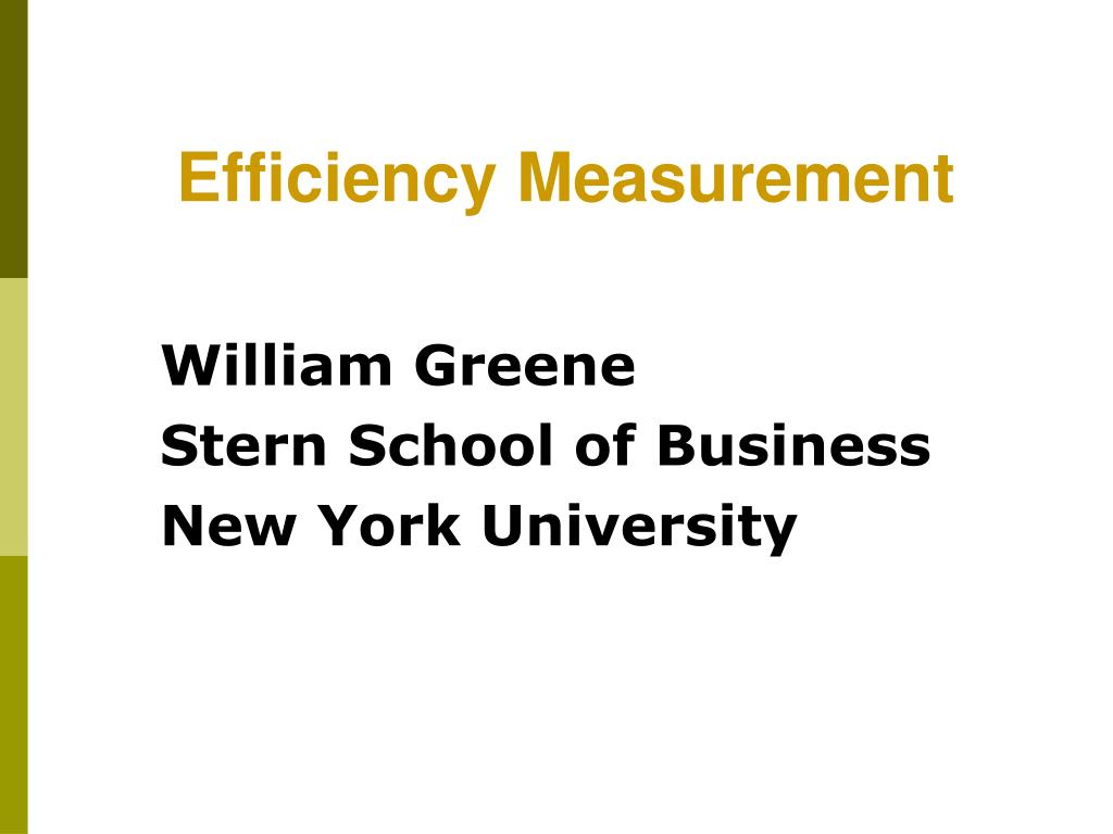 william greene stern school of business new york university