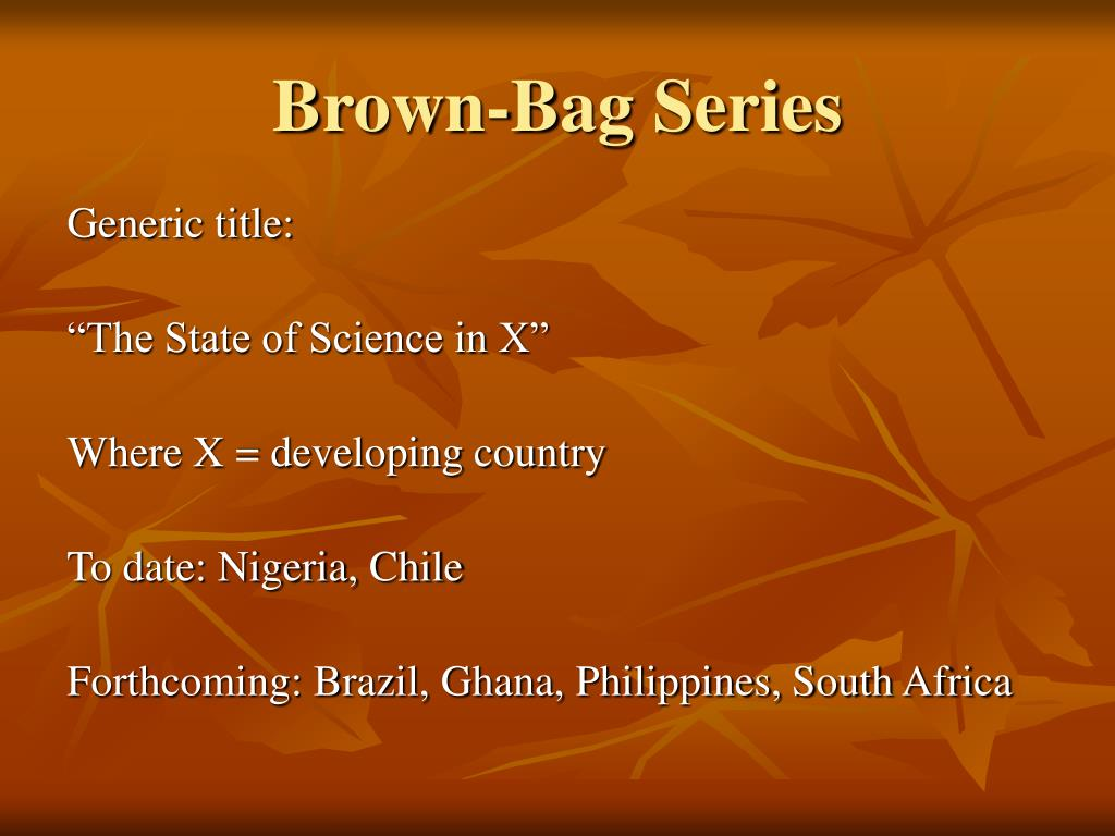Brown-Bag Series