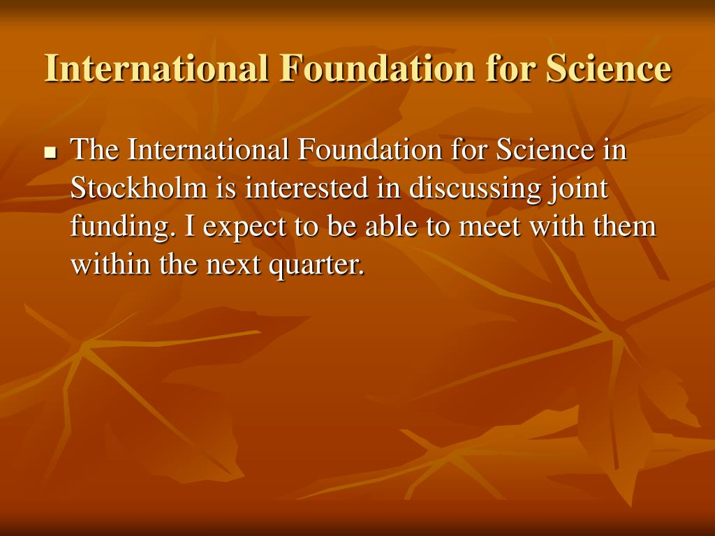 International Foundation for Science