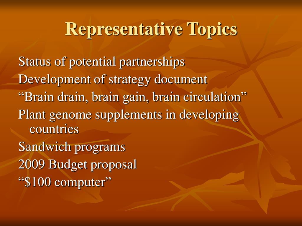 Representative Topics