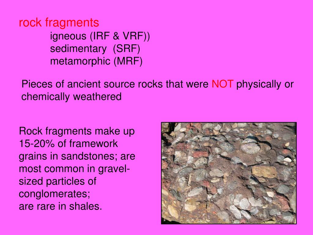 rock fragments