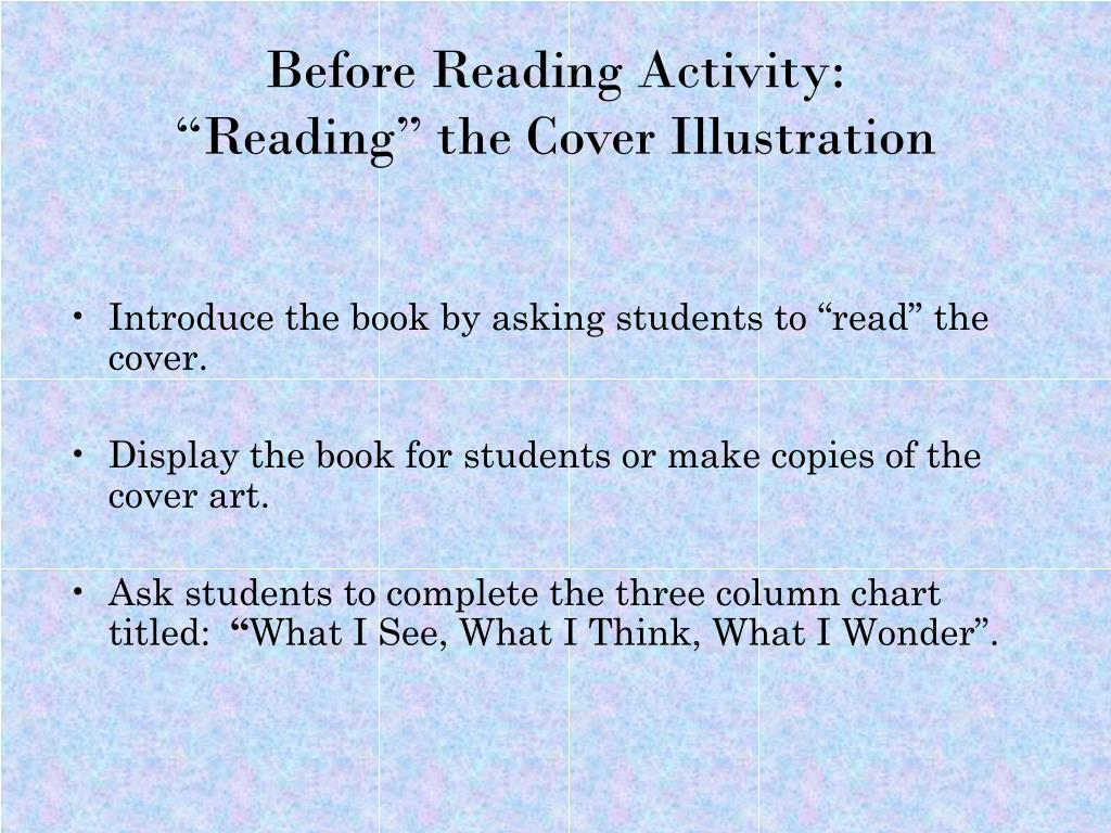 Before Reading Activity: