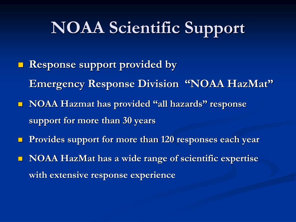 NOAA Scientific Support