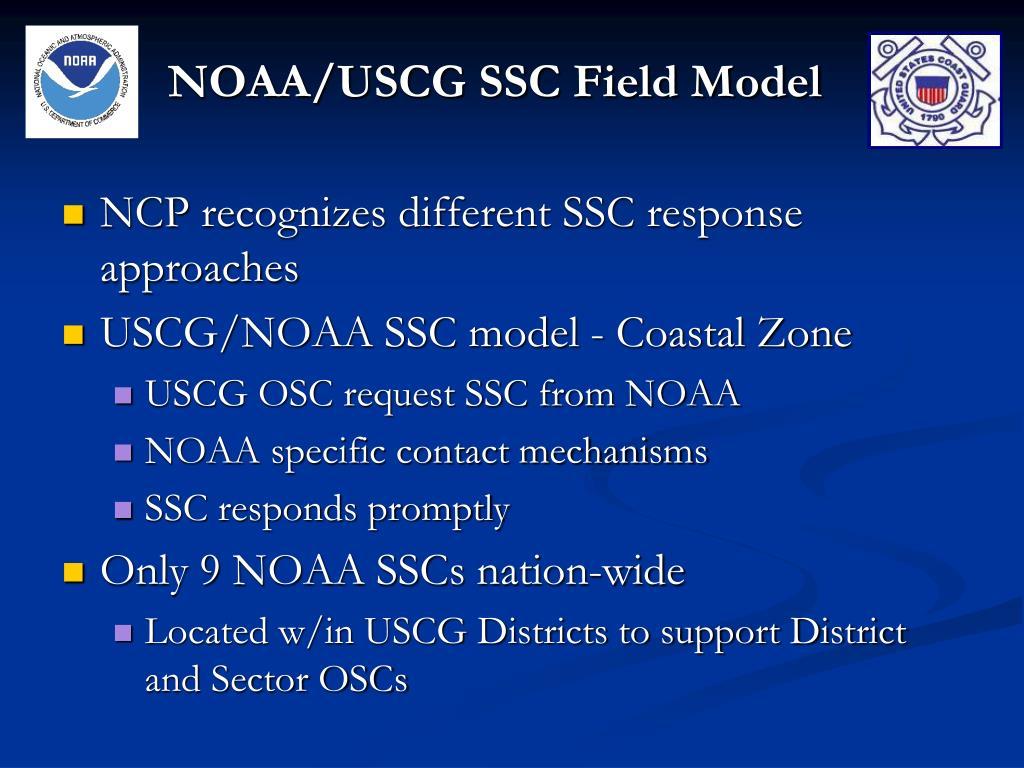 NOAA/USCG SSC Field Model