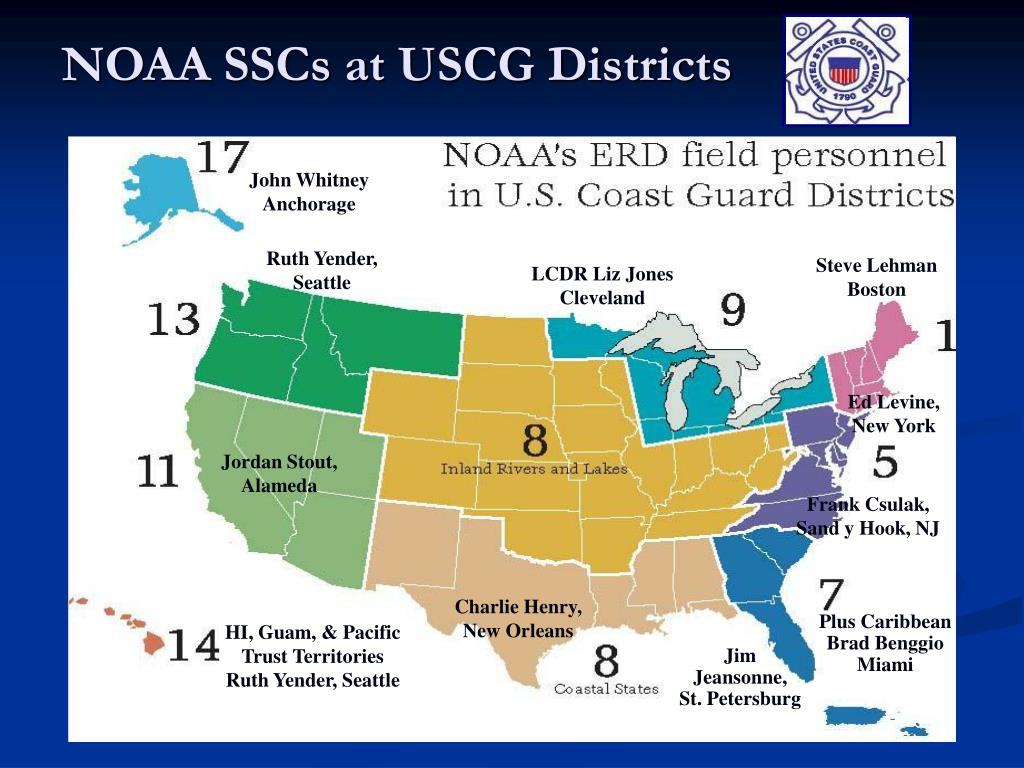 NOAA SSCs at USCG Districts