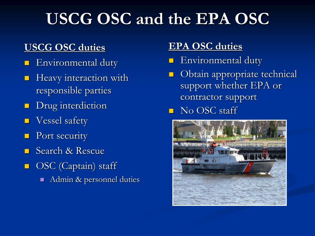 USCG OSC duties