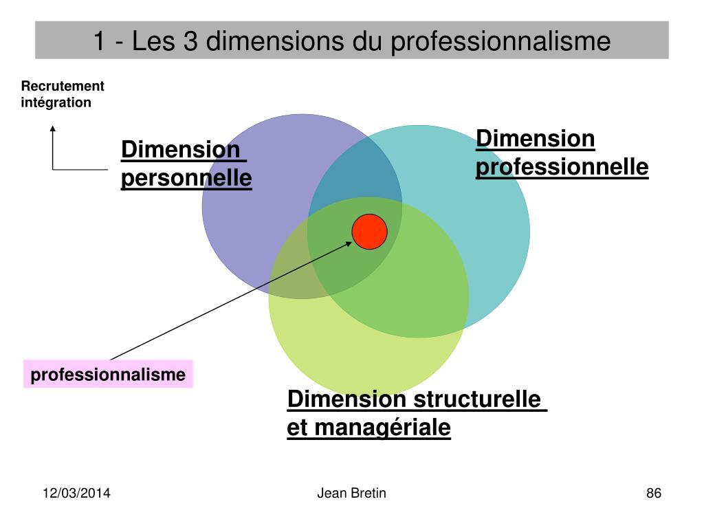 1 - Les 3 dimensions du professionnalisme