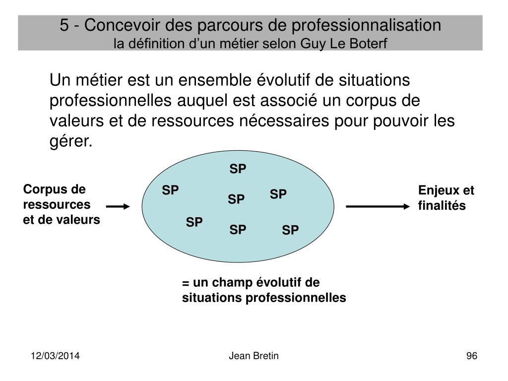 5 - Concevoir des parcours de professionnalisation