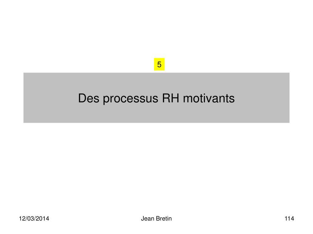 Des processus RH motivants