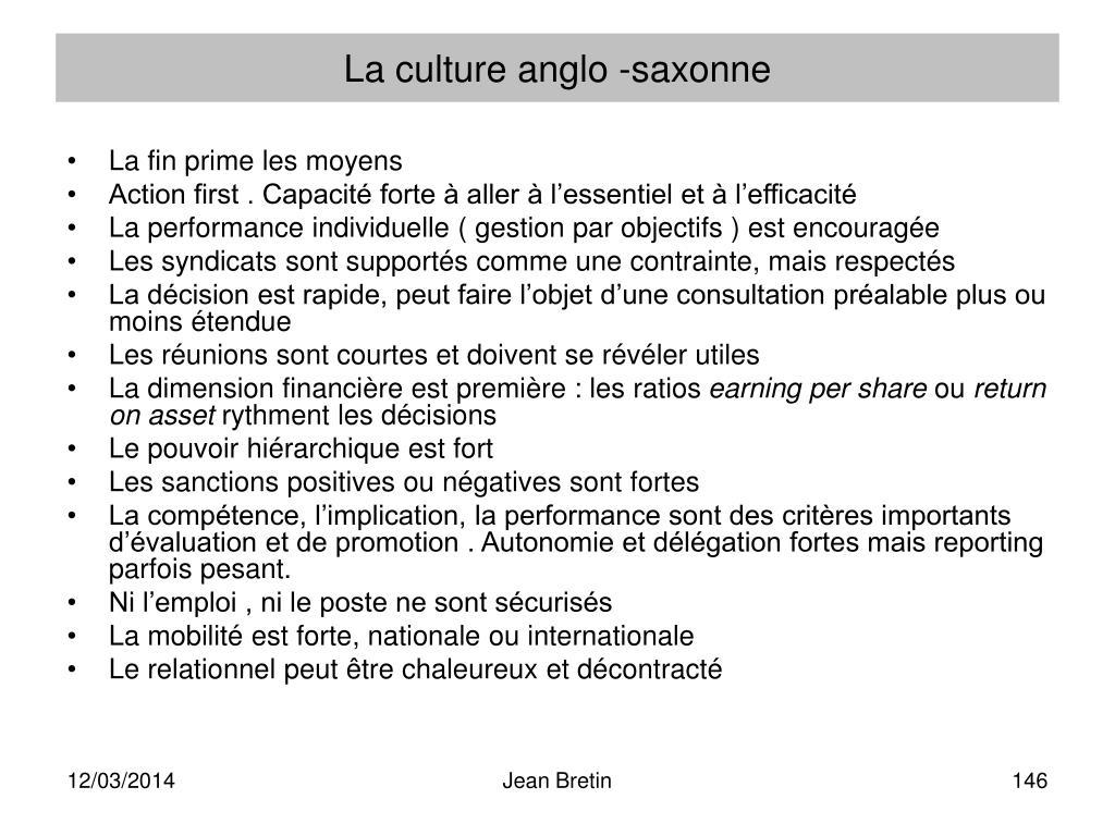 La culture anglo -saxonne