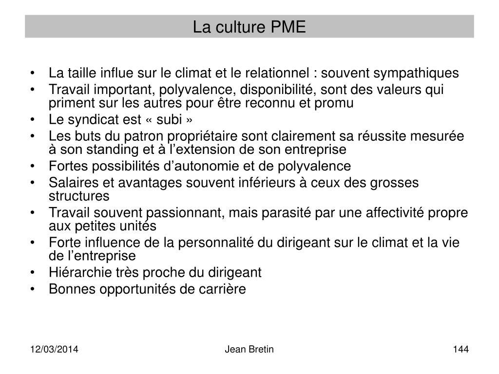 La culture PME