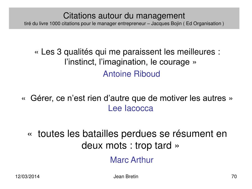 Citations autour du management