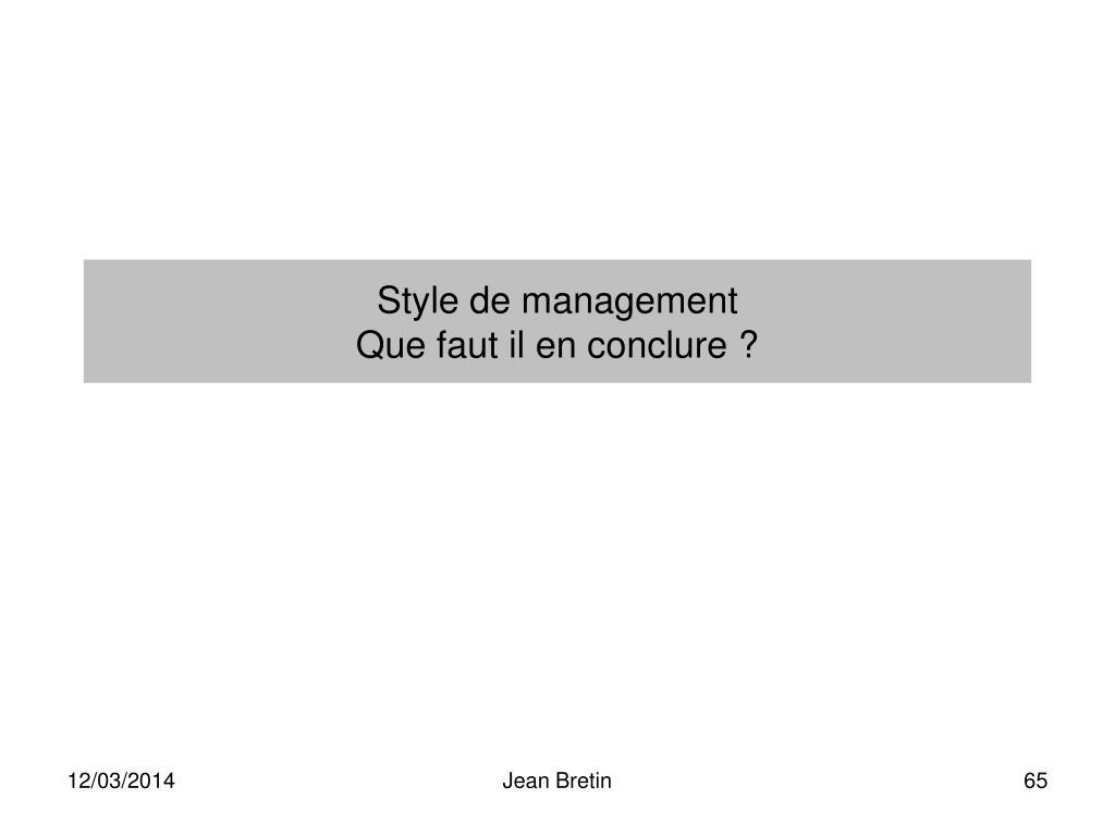 Style de management