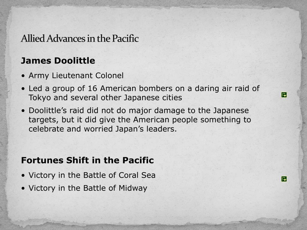 Allied Advances in the Pacific
