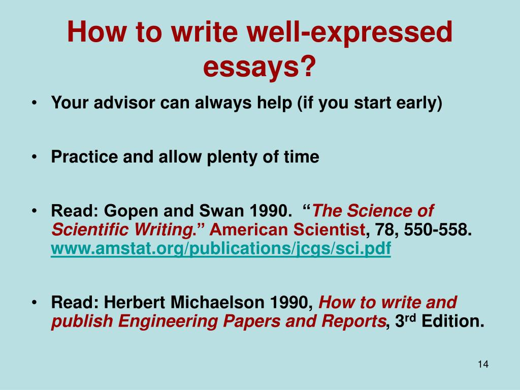 How to write well-expressed essays?