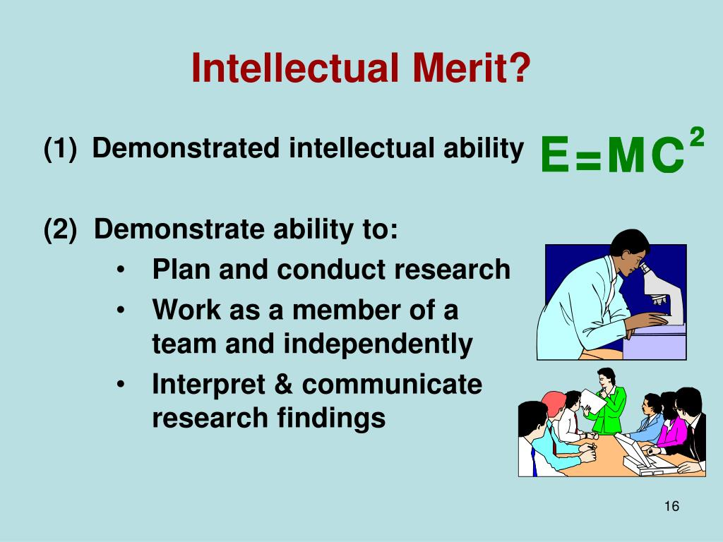 Intellectual Merit?