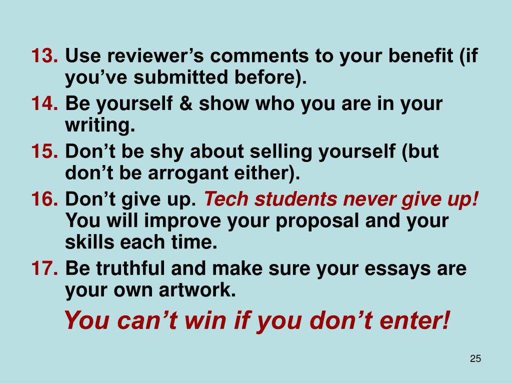 Use reviewer's comments to your benefit (if you've submitted before).