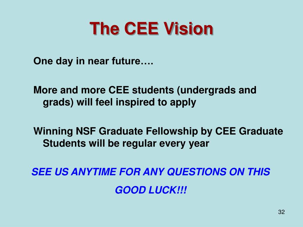 The CEE Vision