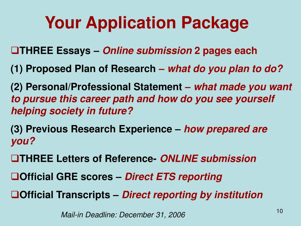 Your Application Package